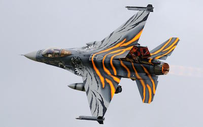 f 16 falcon as a tiger